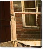Abandoned House - Abandoned Porch Canvas Print