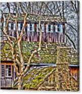 Abandoned House-don Robinson State Park-enhanced Canvas Print
