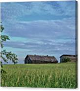 Abandoned In Grass Canvas Print