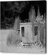 Abandoned In The Field Black And White Canvas Print