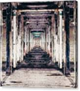 Abandoned Industrial Building Canvas Print