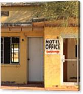 Abandoned Motel Office Canvas Print