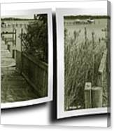 Abandoned Pier - Gently Cross Your Eyes And Focus On The Middle Image Canvas Print