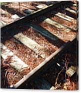 Abandoned Railtracks Canvas Print