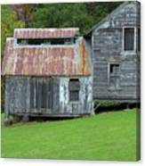 Abandoned Shack By The Road Canvas Print