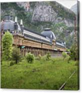 Abandoned Side Of The Canfranc International Railway Station Canvas Print