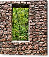 Abandoned Stone Wall With Window Canvas Print