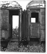 Abandoned Train Cars B Canvas Print