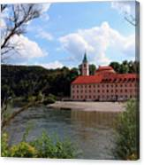 Abbey Weltenburg And Danube River Canvas Print