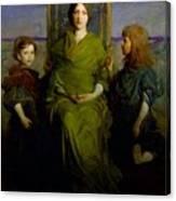 Abbott Handerson Thayer - Mother And Children Canvas Print