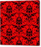 Abby Damask In Black Pattern 02-p0113 Canvas Print