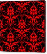 Abby Damask With A Black Background 02-p0113 Canvas Print