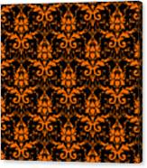 Abby Damask With A Black Background 03-p0113 Canvas Print