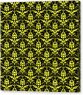 Abby Damask With A Black Background 05-p0113 Canvas Print