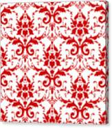 Abby Damask With A White Background 02-p0113 Canvas Print