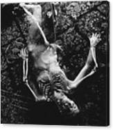 Nude Abby  Martha and Death Canvas Print