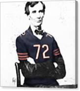 Abe Lincoln In A William Perry Chicago Bears Jersey Canvas Print