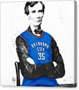 Abe Lincoln In An Kevin Durant Okc Thunder Jersey Canvas Print