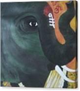 Abhaya Ganapathi Canvas Print
