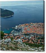 Above Dubrovnik - Croatia Canvas Print
