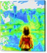 Above The Clouds - A Fantasy Artwork With A Girl Looking Towards Something Mysterious Canvas Print