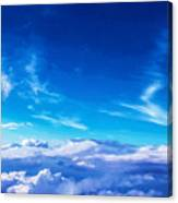 Above The Clouds Sky Is Always Blue Canvas Print