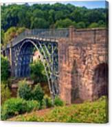 Abraham Derbys Iron Bridge Rural Landscape Canvas Print