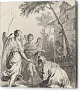 Abraham Kneeling Before The Three Angels Canvas Print