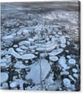 Abraham Lake Ice Bubbles Canvas Print