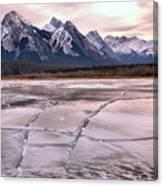 Abraham Lake Ice Sheets Canvas Print