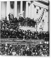 Abraham Lincoln Gives His Second Inaugural Address - March 4 1865 Canvas Print