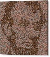 Abraham Lincoln Penny Mosaic Canvas Print