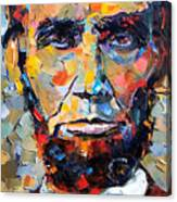 Abraham Lincoln Portrait Canvas Print