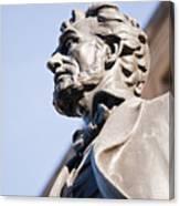 Abraham Lincoln Statue Profile Canvas Print