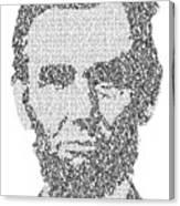 Abraham Lincoln Typography Canvas Print