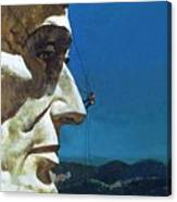 Abraham Lincoln's Nose On The Mount Rushmore National Memorial  Canvas Print
