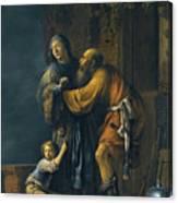 Abraham Pleading With Sarah On Behalf Of Hagar Canvas Print