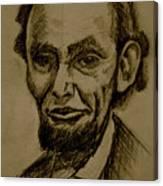 Abraham's Lincoln. Canvas Print