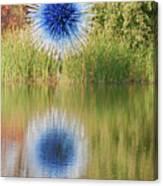 Abstact Sphere Over Water Canvas Print