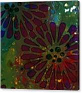 Abstract Acrylic Painting Colorful Spring I Canvas Print