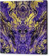 Abstract Amethyst  With Gold Marbled Texture Canvas Print