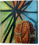 Abstract And The Armadillo Canvas Print