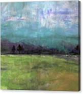 Abstract Aqua Sky Landscape Canvas Print