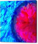 Abstract Art Combination - The Pink Martian Crater, Ca 2017, Byy Adam Asar Canvas Print