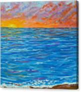 Abstract Art- Flaming Ocean Canvas Print