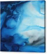Abstract Art Original Blue Pianting Underwater Blues By Madart Canvas Print