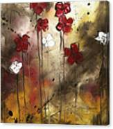 Abstract Art Original Flower Painting Floral Arrangement By Madart Canvas Print