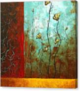 Abstract Art Original Poppy Flower Painting Subtle Changes By Madart Canvas Print