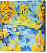 Abstract Autumn Landscape Canvas Print