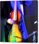 Abstract Bass Player. Canvas Print